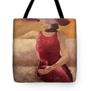 Girl With A Glass Tote Bag