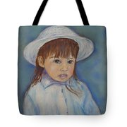Girl With A Hat Tote Bag