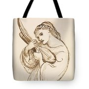 Girl With A Musical Instrument Tote Bag
