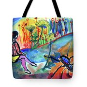 Girl With A Spider Tote Bag