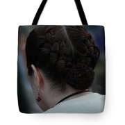 Girl With Braided Hair Tote Bag