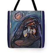Girl With Cat And Moon Tote Bag