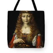 Girl With Cherries  Tote Bag