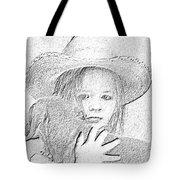 Girl With Dog Tote Bag