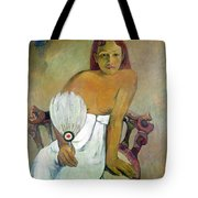 Girl With Fan Tote Bag