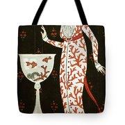 Girl With Fish Bowl Tote Bag