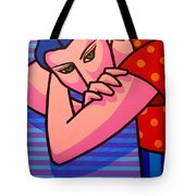 Girl With Green Eyes Tote Bag