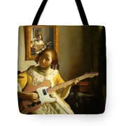 Girl With Guitar Tote Bag
