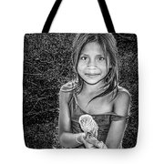 Girl With Her Pet Tote Bag
