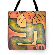 Girl With Long Hair Tote Bag
