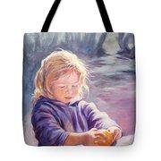 Girl With Orange Tote Bag