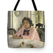 Girl With Peaches Tote Bag