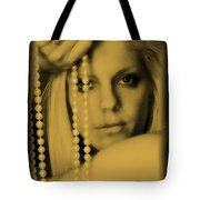 Girl With Pearls II Tote Bag