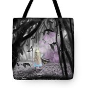Girl With Pink Balloons Tote Bag