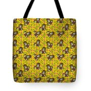 Girl With Popsicle Yellow Floral Tote Bag