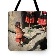 Girl With Puppy Tote Bag