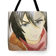 Girl With Scarf Tote Bag