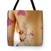 Girl With Spring Tattoo Tote Bag