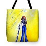 Girl With Sword. Astral Traveler Tote Bag