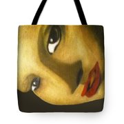 Girl With The Pearl Earring Close Up Tote Bag