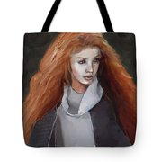 Girl With The Red Hair Tote Bag