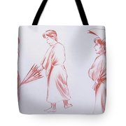Girl With Umbrella 3 Tote Bag