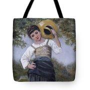 Girl With Water Jug Tote Bag