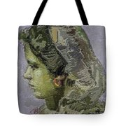 Girl With Yellow Earring Gwye2 Tote Bag