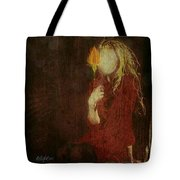 Girl With Yellow Flower Tote Bag by Delight Worthyn
