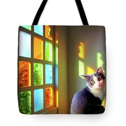 Girlie Goes To Church Tote Bag