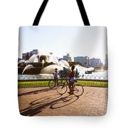 Girls At The Fountain Tote Bag