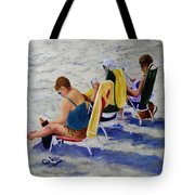 Girls Day At  The Beach Tote Bag
