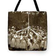 Girls  Doing The Maypole Dance Pacific Grove Circa 1890 Tote Bag