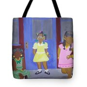 Girl's Dreaming Of Being Women Tote Bag