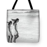 Girls On Beach Tote Bag