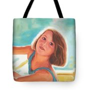 Girl's Portrait Tote Bag