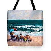 Girsl On The Beach Tote Bag