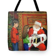 Giving The List To Santa Tote Bag