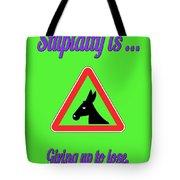 Giving Up Bigstock Donkey 171252860 Tote Bag