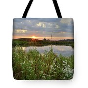 Glacial Park Sunrise On The Nippersink Tote Bag