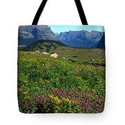 Glacier Blooms Tote Bag