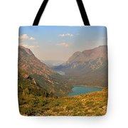 Glacier Chain Of Lakes Tote Bag