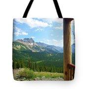 Glacier Chalet View Tote Bag
