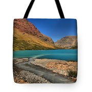 Glacier Cracker Lake Tote Bag