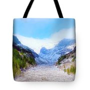 A Glacier In Mt. Rainier Tote Bag