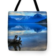 Glacier Mountain Reflections Tote Bag