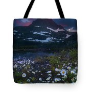 Glacier National Park At Dawn Tote Bag