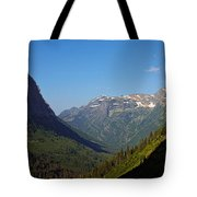 Glacier National Park Mt - View From Going To The Sun Road Tote Bag