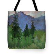Glacier Nat'l Park - Plein Air -  Rising Wolf Ranch Tote Bag
