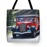Glacier Red Bus Tote Bag